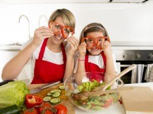Alimentazione vegetale per mamme e bambini